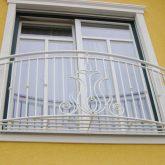Ballustradengitter-französischer Balkon-weiss lackiert