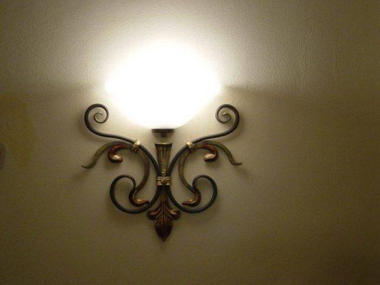 Wandlampe schmiedeeisen