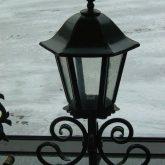 Stehlampe mit Dach