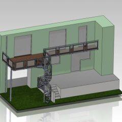 3D Plan Wendeltreppe